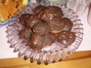 Chokladbiskvier, inte så snygga men jätte goda!